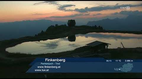 Wetter-Panorama ORF2 18. 8. 2018