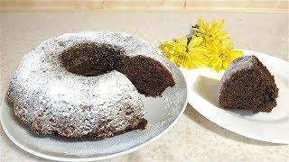 Кекс без яиц шоколадно-кофейный НА СКОРУЮ РУКУ! Постная выпечка!