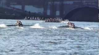 Two eights running into each other Head of the Charles 2012 boat accident