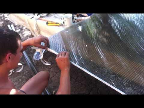 Перфорированная лента защищающая соты (ячейки)поликарбоната  от пыли ,грязи,насекомых.