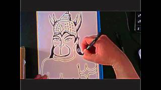 How to draw Lord Hanuman fast (100% original Hanuman portrait)
