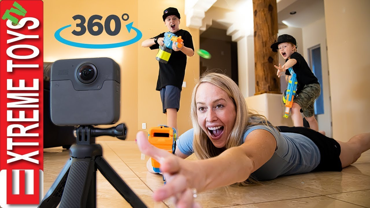 Sneak Attack Squad Training in 360! Ride Along with Ethan and Cole Vs Aunt Jenna