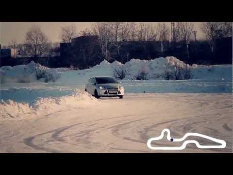 Ford Focus 3 тест The Ice Track (Форд Фокус 3 на ледовом треке)