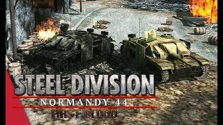 The Wall of Stugs! Steel Division: Normandy 44 Gameplay (Colleville, 3v3)
