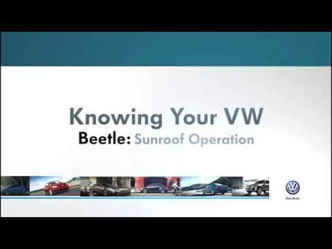 Sunroof Operation | Knowing Your VW