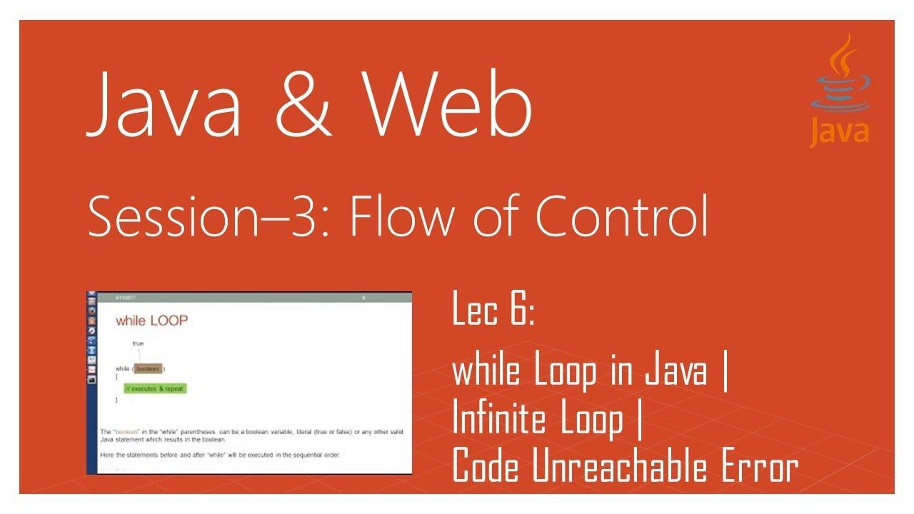 While Loop In Java Infinite Loop Code Unreachable