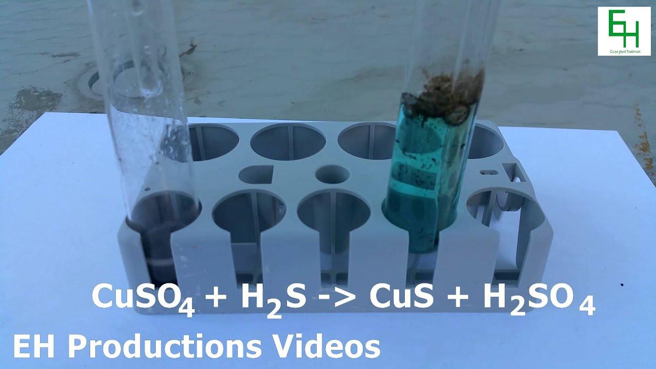 Hydrogen Sulfide and Copper Sulfide Reaction