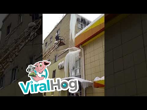 Massive Icicle Removal Gone Wrong