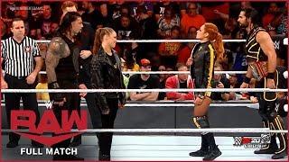 FULL MATCH - Roman Reigns & Ronda Rousey vs. Becky Lynch & Seth Rollins