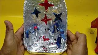 Como Fazer Presépio de Natal com Latinhas