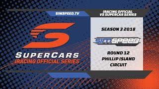 iRacing Official V8 Supercar Series | Round 12 | Phillip Island