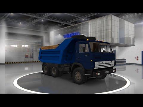 Euro Truck Simulator 2 обзор мода (KamAZ 53212 v4.0.1)