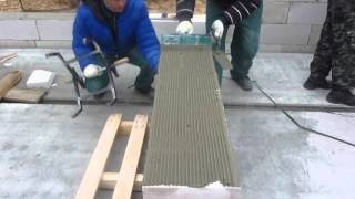 видео Как класть пеноблок на клей
