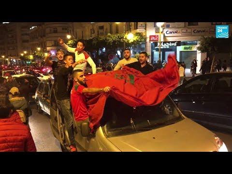 Scènes de liesse à Tanger après la qualification du Maroc au Mondial-2018
