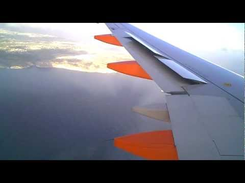 Landing at Malta International Airport on Easyjet Airbus A319