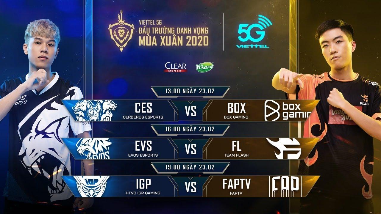 CES vs BOX   EVS vs FL   IGP vs FTV [23.02.2020] – Viettel 5G ĐTDV mùa Xuân 2020