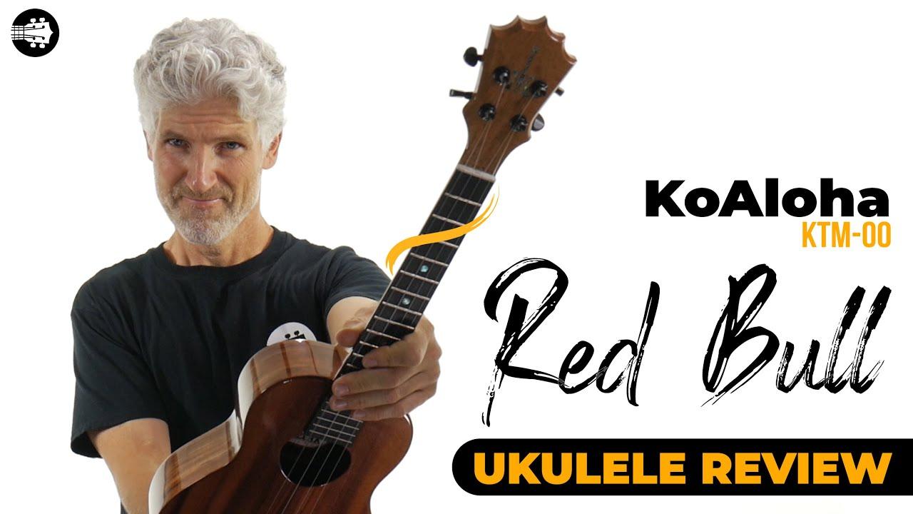 "KoAloha KTM-00 Tenor Ukulele ""Red Bull"" Made in Hawaii | Ukulele Review"