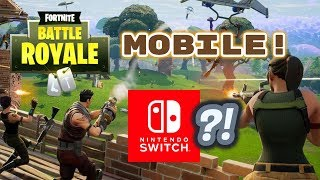 Fortnite MOBILE Gameplay & FREE Invite Codes! (Switch SOON?!)