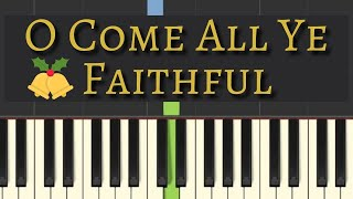 Easy Piano Tutorial: O Come All Ye Faithful, with free sheet music