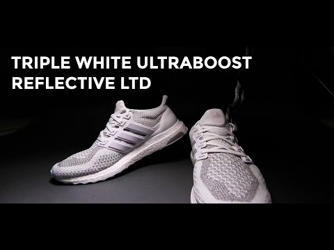 3M Triple White Ultraboost Reflective LTD On feet + Unboxing.