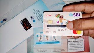 sbi global contactless master debit card unpacking