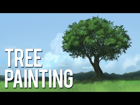Photoshop CC Tree Painting