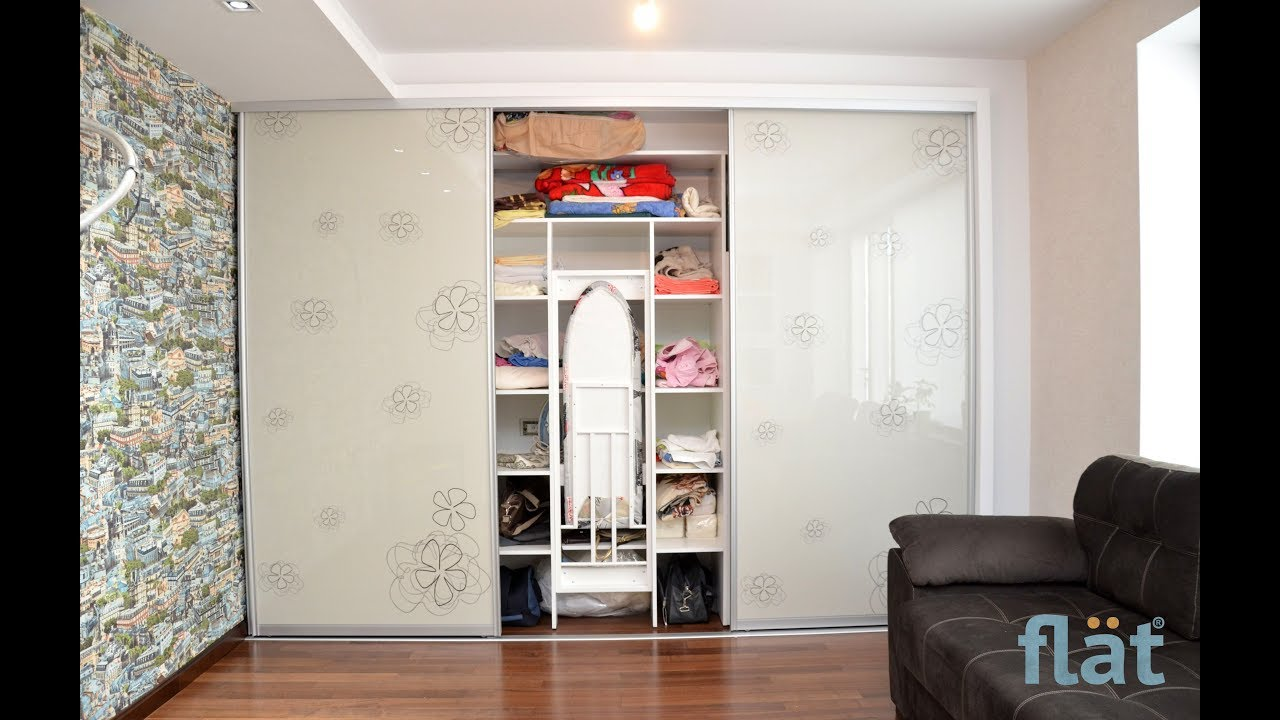Flat Closet With Built In Ironing Board Transformer