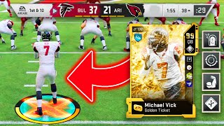 I BOUGHT THE MOST EXPENSIVE CARD IN MADDEN HISTORY...GOLDEN TICKET MICHAEL VICK!