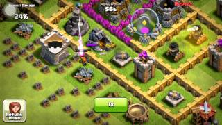 Clash Of Clans- Quick Attack with wall breakers+archers+goblins Easy 268k Gold 196k Elixer