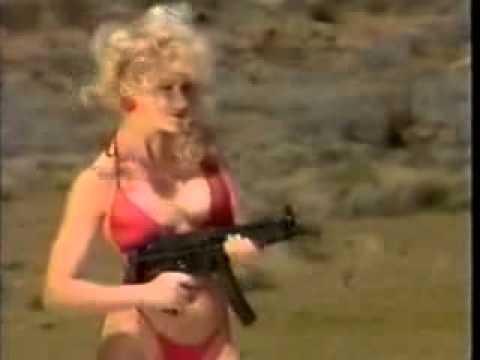 1980s VHS babes shooting machine guns