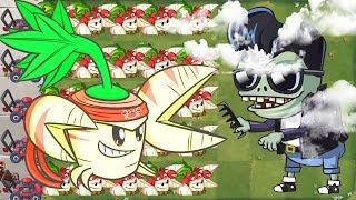 Plants vs Zombies 2 Mod - Parsnip Power Up Vs Gargantuar BOOSTED Zombies Epic Quest Gameplay