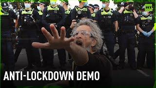 Melbourne police arrest over 200 protesters during anti-lockdown demo