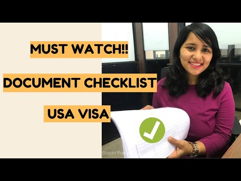 Document Checklist For USA Visitor Visa For INDIANS 2020 | B1/B2 | Shachi Mall