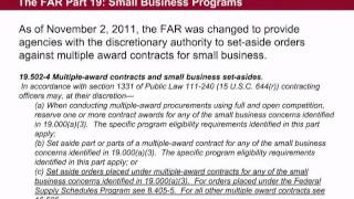Pt. 1 of 7 - GSA Small Business Utilization