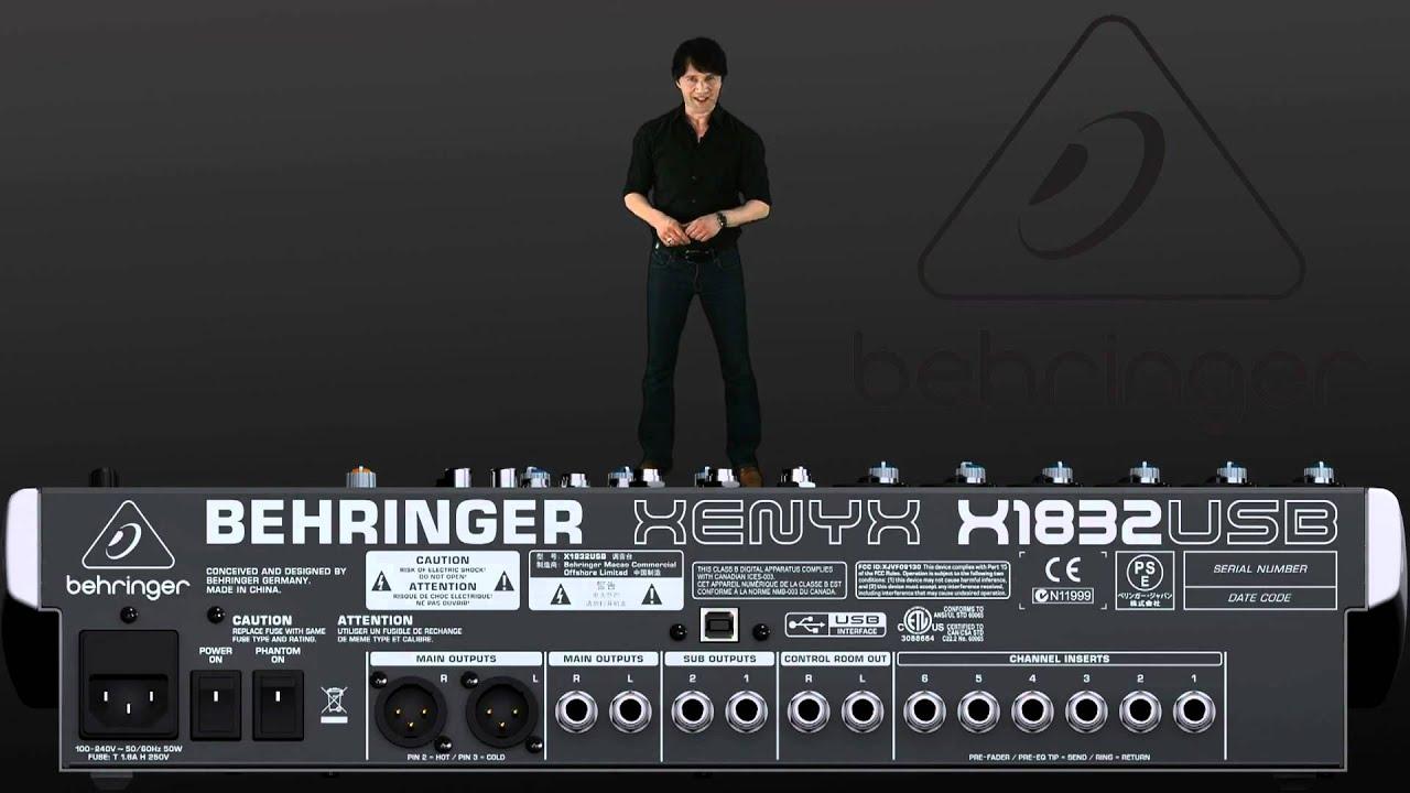 Testando a mesa de som behringer x1832usb youtube.