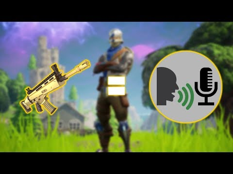 Fortnite, But the Gun sounds are text to speech.