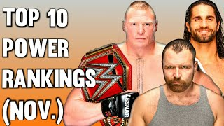 WWE Top 10 Power Rankings November 2018