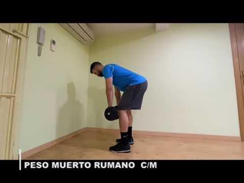 PESO MUERTO RUMANO C/M - YouTube