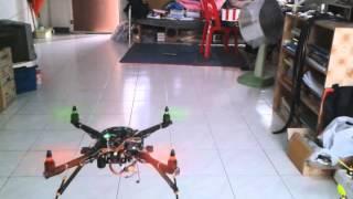 Arduino Due 32Bit Quadrotor Testing Position Hold (indoor)