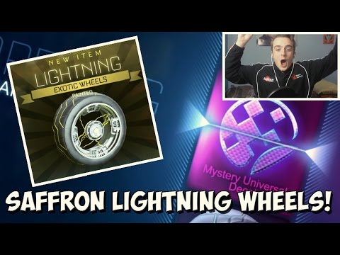 BEST ROCKET LEAGUE IMPORT TRADE UP EVER: SAFFRON PAINTED LIGHTNING WHEELS! | 50+ Crate Opening
