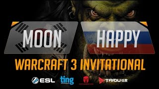 WC3 - Moon vs. Happy - Ting Warcraft Invitational - Group B - Lower Bracket Final(Introducing the Warcraft Ting Invitational. Ting, Matcherino and ToD have partnered up to bring you a Warcraft 3 tournament of the ages starring many of ..., 2016-10-11T15:33:26.000Z)