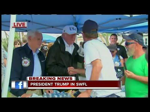 President Trump visits Naples Estates after Hurricane Irma