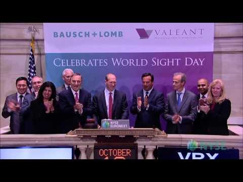 Valeant Pharmaceuticals International Marks World Sight Day at the NYSE