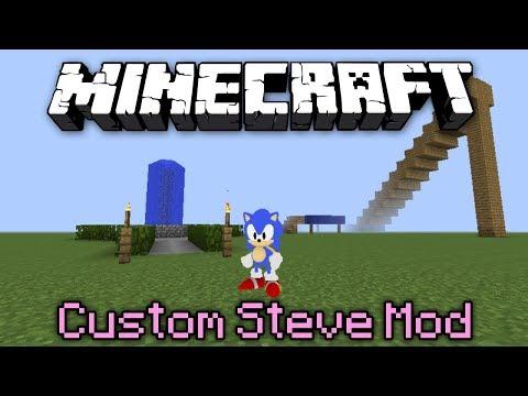 Minecraft Mod Showcase | CUSTOM STEVE MOD!!