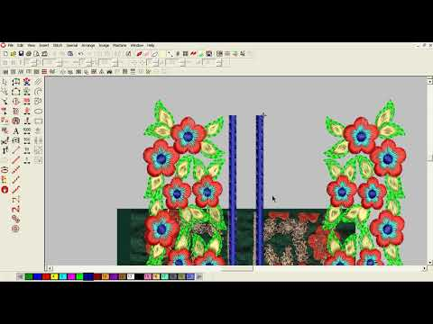 Embroidery designing tutorial on Wilcom software    embroidery design    hand embroidery.(pat-1) thumbnail