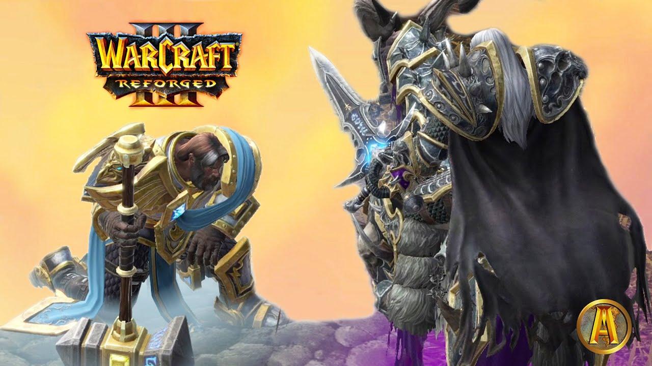 Arthas Kills Uther With Kel Thuzad Death Cutscene Warcraft Iii Reforged Youtube