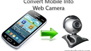 Use Mobile Camera As Web Camera. Android App DroidCam.