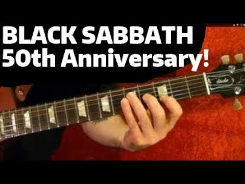 50 YEARS AGO TODAY!  BLACK SABBATH Album Released - Guitar Lesson
