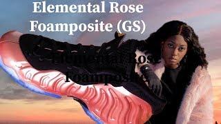 rose gold foamposite grade school