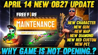 Free Fire Today Game Open ஆகாதா ? Why? New Update OB 27 Live With PVS - Garena Free Fire